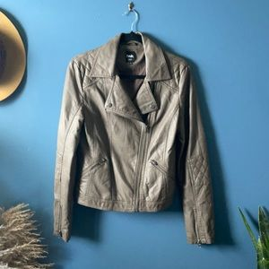 TWIK faux leather jacket taupe size medium
